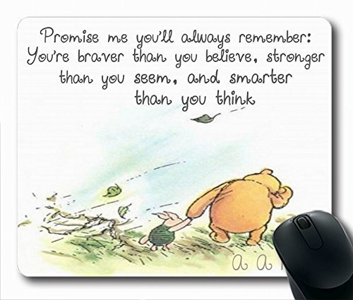 """Winnie The Pooh Quotes Simple Design STYLE (118087) Custom Printed Oblong Gaming Mousepad Standard Size 220mm180mm3mm Mouse Pad /Rectangle Mousepad in 9""""7"""""""