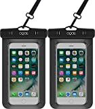 OQOE Universal Waterproof Case - Black (2 Pack)