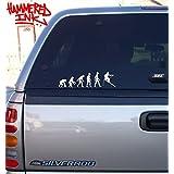 Human Evolution, Ape to Skiing Die Cut Vinyl Car Decal Window Sticker