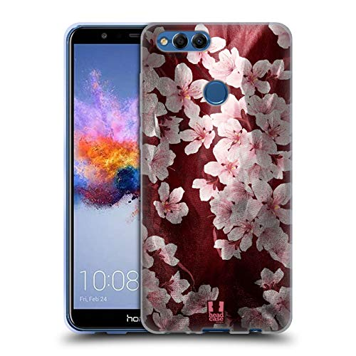 (Head Case Designs Cherry Blossom Satin Floral Prints Soft Gel Case for Huawei Honor 7X)