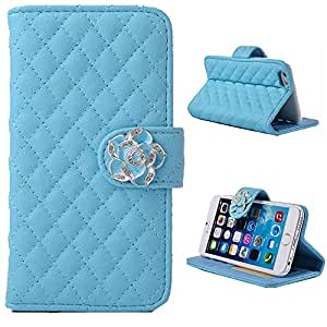 iPhone 6 case,leather case for iPhone 6,Creativecase Carryberry leather case for iPhone 6 4.7¡±and PU Leather Case for iphone 6 4.7 inch case with Credit Card Holder For iPhone 6 Blue