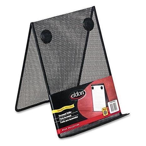 ELDON OFFICE PRODUCTS Nestable Wire Mesh Freestanding Desktop Copyholder,  Stainless Steel, Black (FG9C9500BLA
