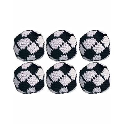 Turtle Island Imports Set of 6 Hacky Sacks - Soccer Ball: Sports & Outdoors