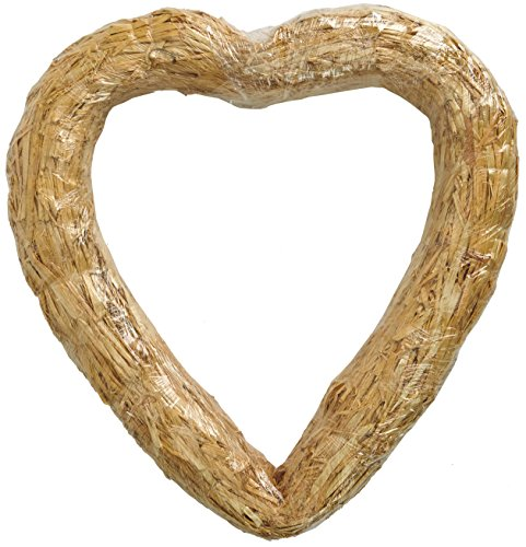 FloraCraft HEART STRAW WREATH, 20