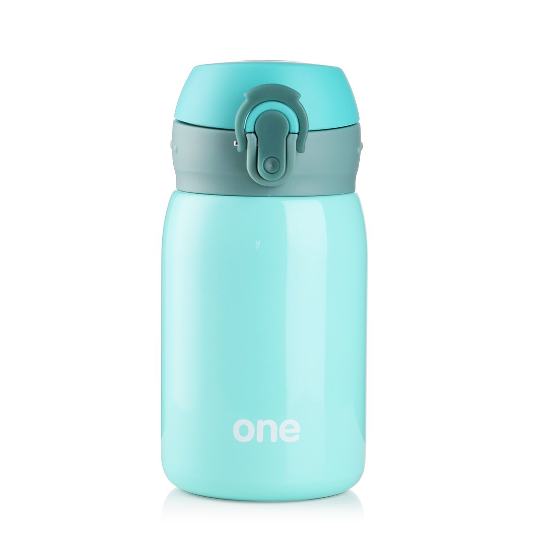 Kid&Girls 260ml/9oz Mini Insulated Water Bottle Drink Thermos Cute Stainless Steel Vacuum Flask,Leak-proof Travel Mug Coffee Tumbler (Green)