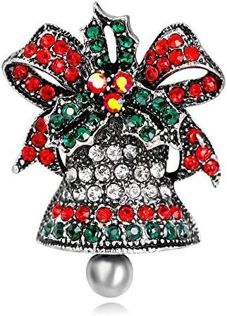 Sxuefang Brosche, Vintage Christmas Bell ZubehöR Weiblichen Party Kleid Anzug ZubehöR