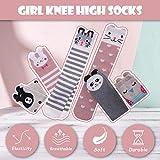 MSMETRO 6 Pairs Girls Cute Over Calf Knee High
