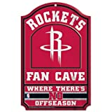 WinCraft NBA Houston Rockets 38405012 Wood Sign, 11'' x 17'', Black