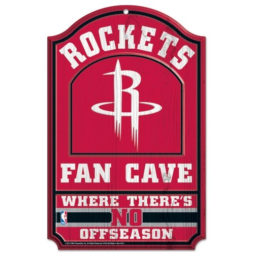 WinCraft NBA Houston Rockets 38405012 Wood Sign, 11'' x 17'', Black by WinCraft