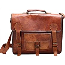 Phoenix Craft Leather Messenger Bag For Mens Travel Crossbody Shoulder Bag Fit 13x10x4 Inches Brown ...