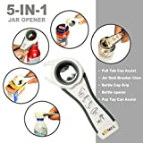Lovatic Jar Opener Bottle Opener - Premium Kitchen Gadgets - Twist Off Lids Set - Easy Grip Jar and Can Lid Opener For Seniors & Arthritis Suffers - Ebook with 30 Ideal Recipes With Jar.