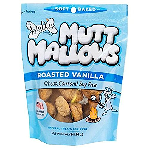 Lazy Dog Mutt Mallows Soft Baked Dog Treats Original Roasted Vanilla 5 (Flavored Dog Treat Cookies)