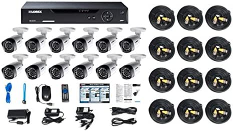 Lorex 16 Channel HD 720p Security System with 2TB HDD and 12 720p Cameras