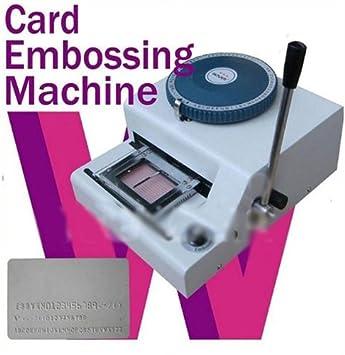 68 Symbol Card Embosser VIP Card Manual Character Printing Machine