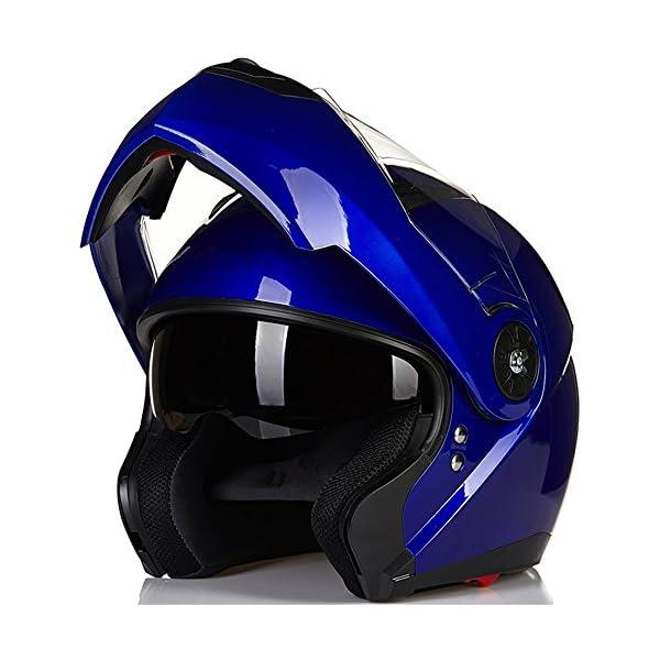 ILM 8 Colors Motorcycle Modular Flip up Dual Visor Helmet DOT