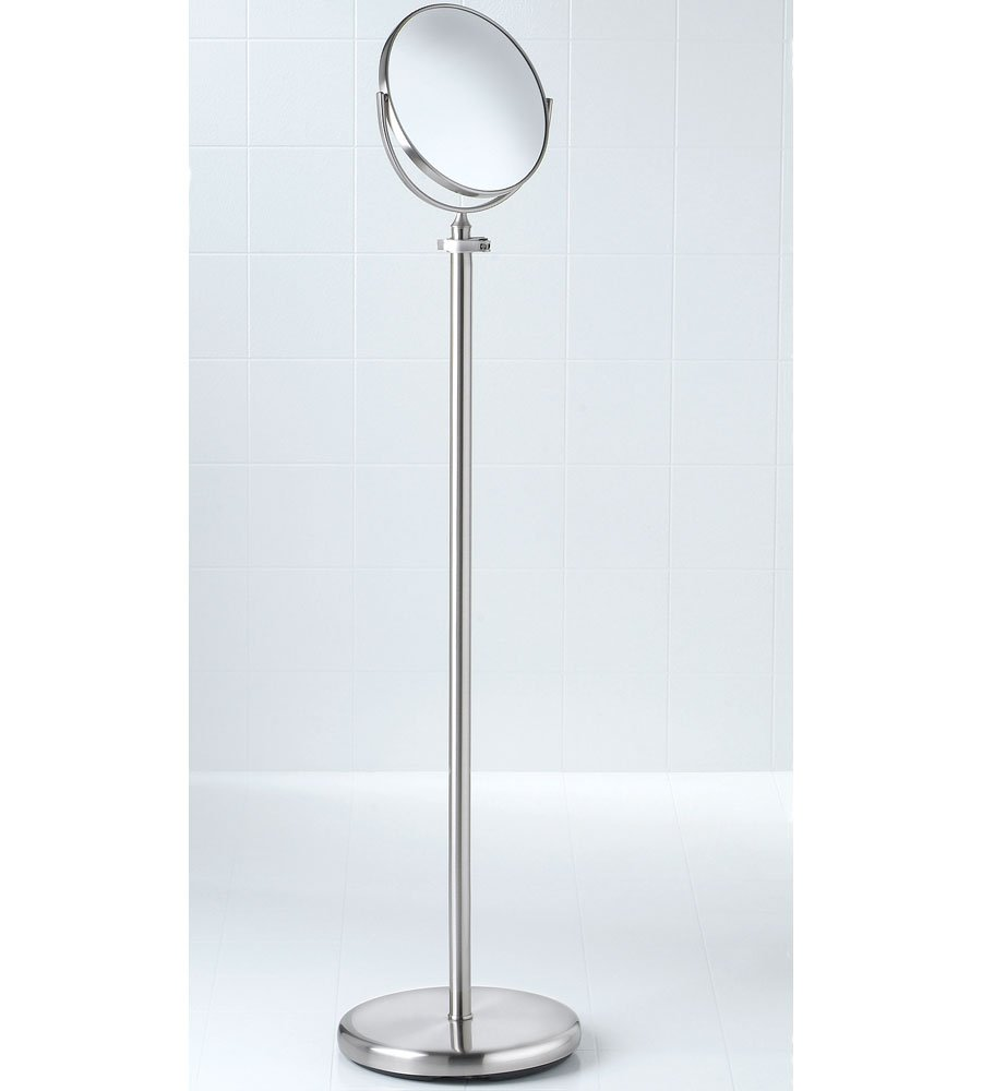 Taymor Industries Bedroom Floor Mirror Satin Nickel