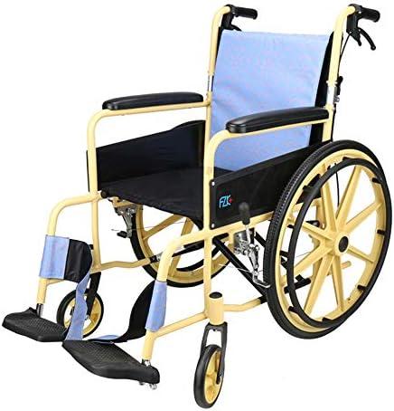 ZFAME Leichter faltender Fahrradrollstuhl, Aluminiumlegierung großes Rad, der zurückrollenden Rollstuhl rollt, Vierjahreszeitenuniversal