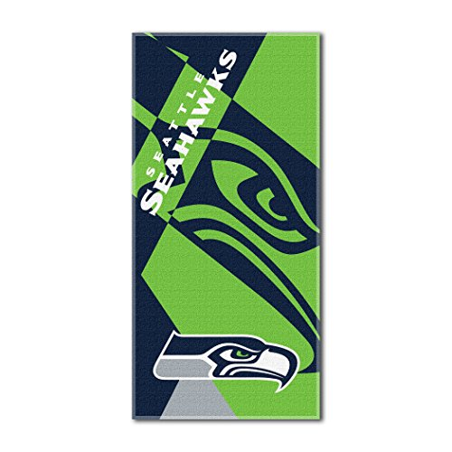 The Northwest Company Officially Licensed NFL Seattle Seahawks Puzzle Beach Towel, 34