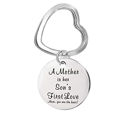 Amazon Toporchid Best Gift Mom Christmas A Mother Is Her Sons First Love Keychain Birthday From His Jewelry