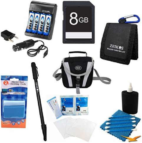 CANON SX160 More Includes AA Rapid Multivoltage AC//DC Charger with 4 3100mah AA Batteries 100-240v Monopod Special Essential AA Battery 8GB Kit Fujifilm S2950 S4200 GE X500 Compact Carrying Case 8GB Memory Card S4500