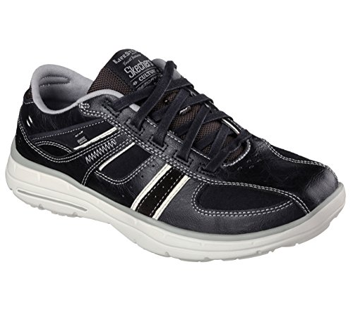 Skechers Hombres Relaxed Fit Glides Piaro Sneaker Black