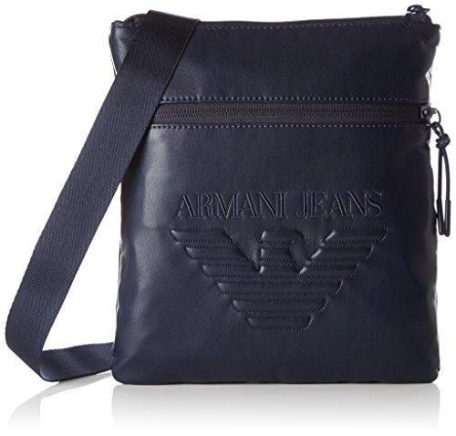 Armani Exchange Men's Nappa Look Soft Pouch Bag, Blue/Blue by A|X Armani Exchange