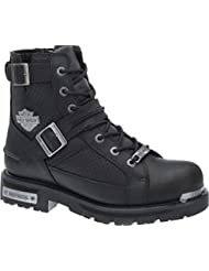 Harley-Davidson Mens Performance Edgewood Black Motorcycle Boots D96127