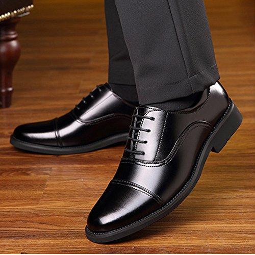 Pelle di Traspirante retr Lavoro Scarpe da Lavoro in Uniforme Uomo da Antiscivolo Punta da Formale A Scarpe S5R01wqx
