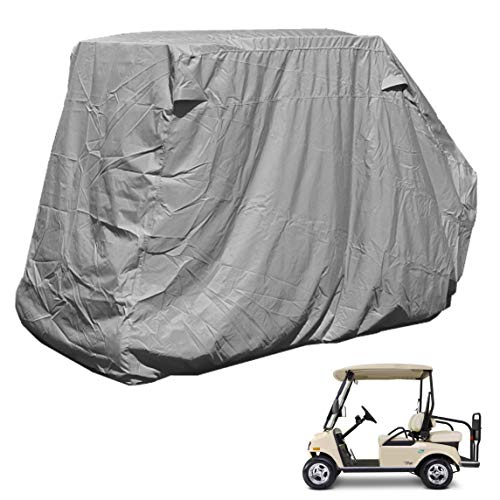 - Golf Cart Storage Cover for EZGo, Club car 4 Seater with 2 Seater Roof up to 58