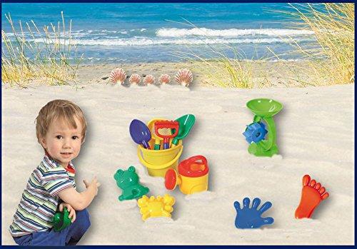 Sandspielzeug Set, 11-tlg. Eimergarnitur, Förmchen, Sand-/Wassermühle
