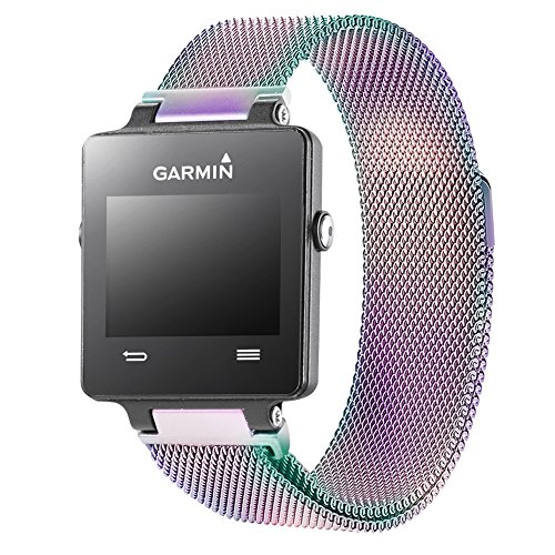 (Oitom Replacement Band/Strap for Garmin VIVOACTIVE Smart Fitness Watch, Small,Large and Fitbit Tracker (Rainbow, Large))