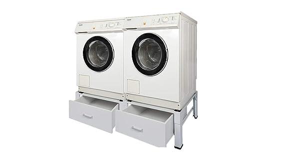 Kühlschrank Unterbau : Doppel waschmaschinenuntergestell und trockner sockel podest