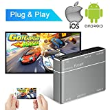 USB to HDMI & VGA Adapter for iPhone ipad,Weton USB to HDMI VGA Audio Full HD Converter Adapter for Smartphones Tablets PC Mirror Screen - Gray