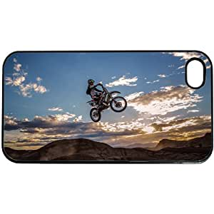 Motorcycle Motocross Bike Apple iPhone 4 or 4S RUBBER cell phone Case / Cover Great Gift Idea
