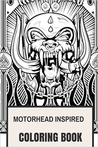 Amazon Motorhead Inspired Coloring Book English Hard Rock And Lemmy Kilmister Hells Angels Bikers Adult For
