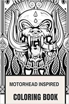 motorhead inspired coloring book english hard rock and lemmy kilmister hells angels bikers inspired adult coloring book coloring book for adults - Coloring Book Angels