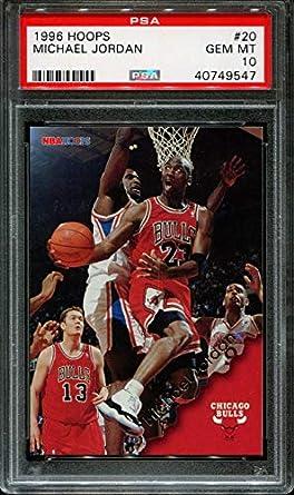 05519060606 Amazon.com: 1996-97 hoops #20 MICHAEL JORDAN chicago bulls PSA 10 ...