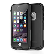 "OTBBA iPhone 6/6s(4.7"") Waterproof Case ShockProof IP68 Certified With Touch ID SandProof Snow Proof Full Body Cover for iPhone 6/6s-Black"