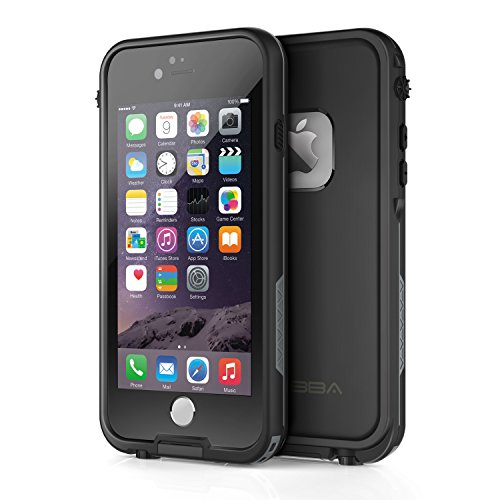 "Price comparison product image OTBBA iPhone 6/6s(4.7"") Waterproof Case ShockProof IP68 Certified With Touch ID SandProof Snow Proof Full Body Cover for iPhone 6/6s-Black"
