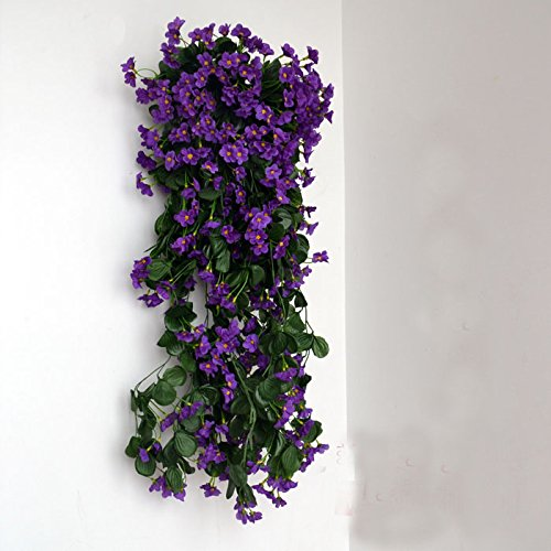 "Colorfulife 2pcs Artificial Lifelike Silk 29"" Violet Orch..."