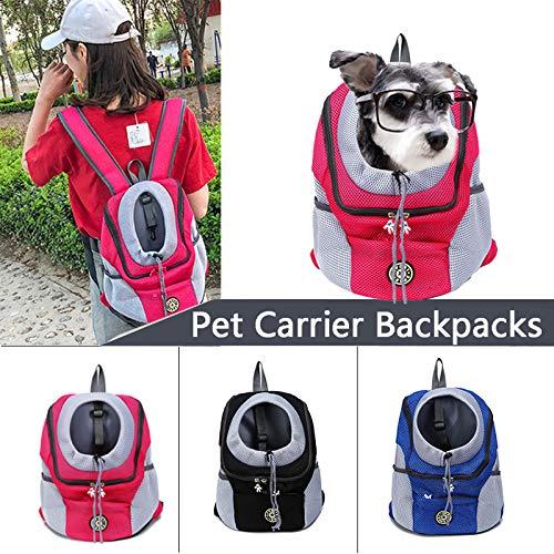- WensLTD Pet Carrier Backpacks, Hands-Free Adjustable Pet Puppy Cat Backpack Carrier for Walking Hiking Bike and Motorcycle (Red)