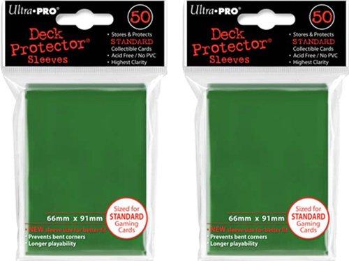 (100x) Ultra PRO Green Deck Protectors Sleeves Standard MTG Colors