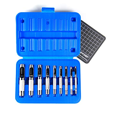 Hollow Hole Punch - OWDEN 9 PIECES HOLLOW PUNCH SET (1/8