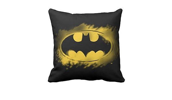 Batman Símbolo   negro y amarillo Logo manta funda para ...