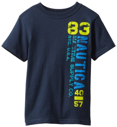 Nautica Boys 2-7 Side Logo Tee