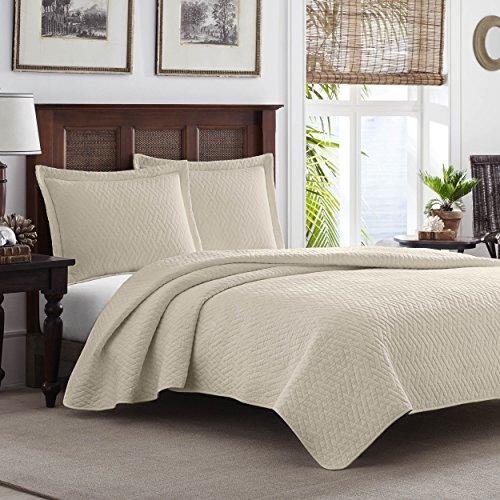 Tommy Bahama Chevron Quilt Set, King, Dune (King Size Chevron Comforter)
