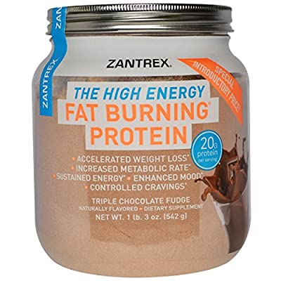 Zantrex The High Energy Fat Burning Protein, Triple Chocolate Fudge, 1 Lb 3 Oz (Pack of 2)