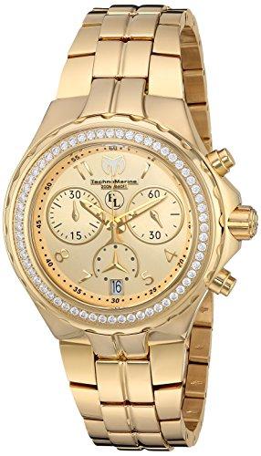 Technomarine Women's 'Eva Longoria' Swiss Quartz Stainless Steel Casual Watch, Color:Gold-Toned (Model: TM-416031)