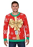 FunCostumes with Gold Bow 3D Men's Ugly Christmas Sweater - XL