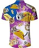 TUONROAD Beach Theme Hawaiian Island Shirt Prints
